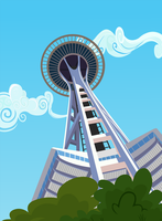 Space Needle by BonesWolbach
