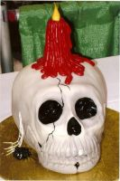 Skull cake by The-EvIl-Plankton