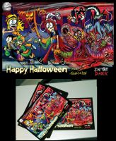 In The Dark-Halloween Card 2011 by Comickpro