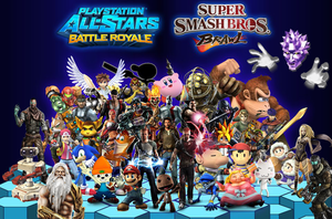 PlayStation All-Stars X Super Smash Bros (Updated) by LeeHatake93