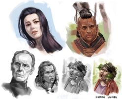 Studies - Face and Heads by Changinghand