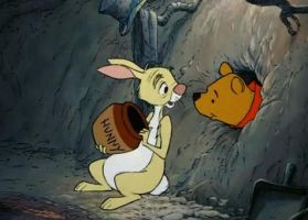 Winnie The Pooh Visits Rabbit by dogtagmike