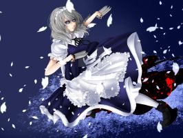 Flowering Night: Sakuya Izayoi by daypoo