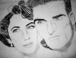Liz Taylor and Monty Cliff by Elephant883
