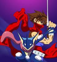 Greninja and Strider Hiryu by Hawke525