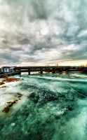 gate and ice by Trifoto