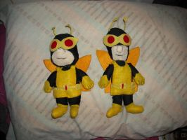 Henchmen 21 and 24 Chibi Plush by DonutTyphoon