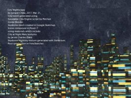 City Nightscape 2011 march c by ibr-remote