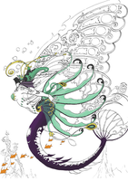 Mermaid- coloring project by LisaBeth1