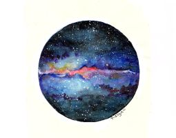 MILKY WAY [watercolors] by T-alya