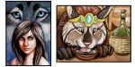 ACEO trades by NatsumeWolf