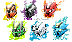 [Bionicle: Reborn] POWER UP!! (Masks) by IlReSanmto