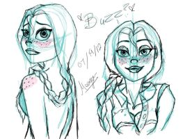 Jessie photo shop sketches by TheSpaceCowgirl