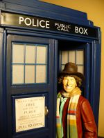 Fourth Doctor and the Tardis by DoctorWhoNC
