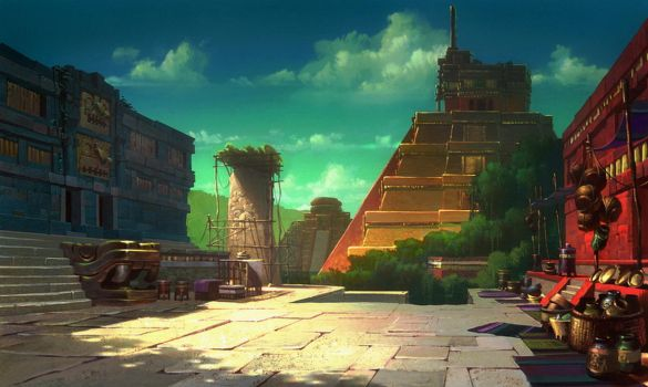 The Road to El Dorado Templescape by NathanFowkesArt