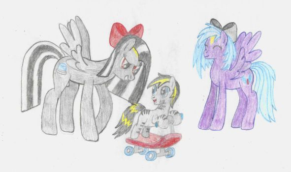 Sibling Love (w/out background) [REQUEST] by RedHoofsketch