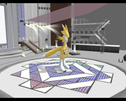 Renamon has stage fright by NyinxDeLune