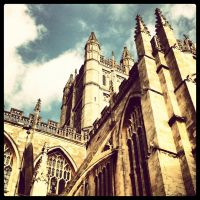 Bath Abbey Exterior Instagrammed by SimonCleary17