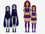 Aged-Up Raven and Starfire Kisekae2 Export codes by CuddlesTheOctopus