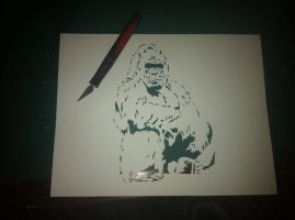 Gorilla ITW by Stencils-by-Chase