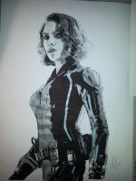 The Black Widow by Emmris-Dessin