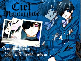 Ciel Phantomhive Simple Wallpaper by CiellyPhantomhive