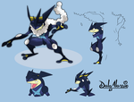 Mega Greninja (link YouTube Video) by delgalessio