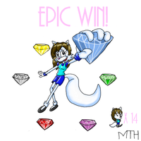Minkgirl got a Chaos Emerald by Marcusthehedgehog
