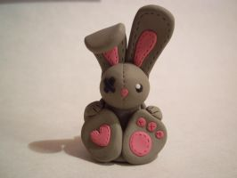 clay bunny charm by jelloopie22