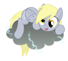 Derpy and her cloud by TheMightySqueegee