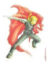 - Edward Elric Colouring - by by edward-elric