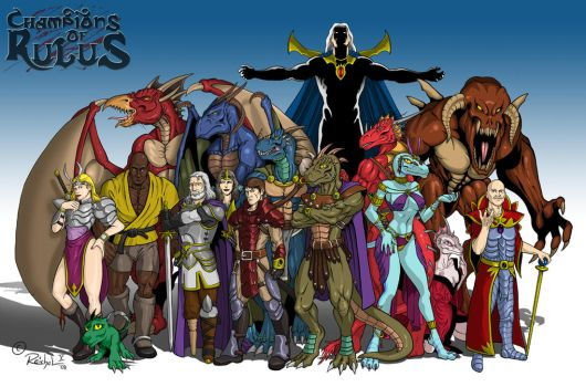 Champions of Rulus by ReptileCynrik