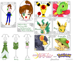 Makoto Kino Pokemon Trainer by kittyshadow