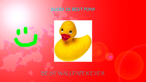 Ducky: The Greatest Wallpaper on the Internet by Jamey4