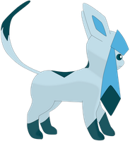My third vector of, Glaceon. by Flutterflyraptor