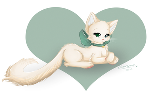 Fluffy cat by WaterGleam
