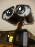 wall-e vectored by R-Clifford