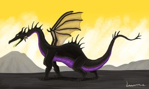 Maleficent in Dragon Form by Louisetheanimator