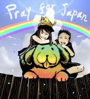 pray for Japan02 by kyan-dog