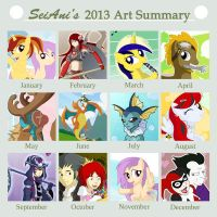 2013 Art Summary by SeiAni