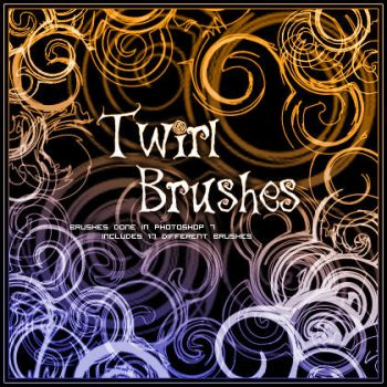 Twirl Brushes 1 by kuschelirmel-stock