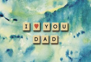Father's Day scrabble watercolor by dontbemad