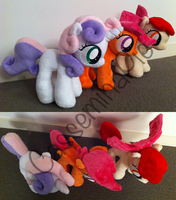 Plushies - Cutie Mark Crusaders by CasseminaPie
