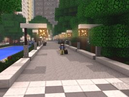 Minecraft SpeedART - One in the Town : Cinema 4D by AlexBBrony