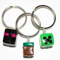 Minecraft Keychains by Meep-and-Mushrat