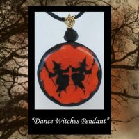 Dancing Witches Pendant by KabiDesigns