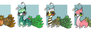 :Wingless Leafypeas Adoptables(price reduced): by PrePAWSterous
