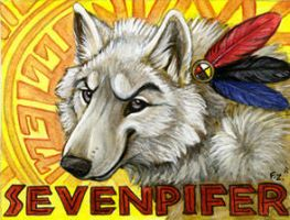 Sevenpifer Wolf Badge by Foxfeather248