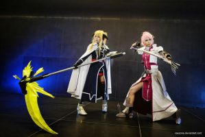 Magical Girl Lyrical Nanoha A's - Fate n Signum by vaxzone