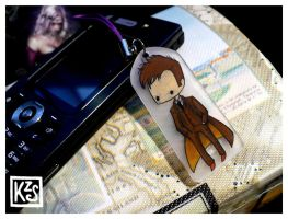 10th Doctor mobile charm by AutumnPendullum